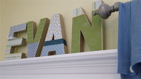 How To Decorate Letters by Craft How To Make Your Child S Name With Block Letters