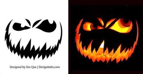 evil pumpkin template scary pumpkin carving patterns imgok