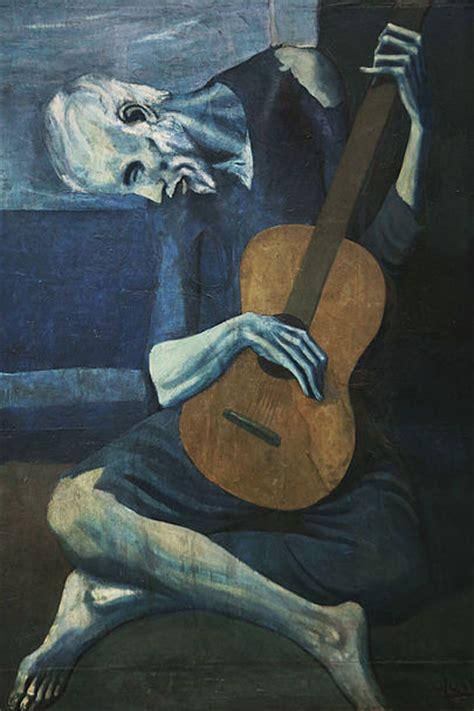 picasso paintings chicago pablo picasso s the guitarist pretty fast