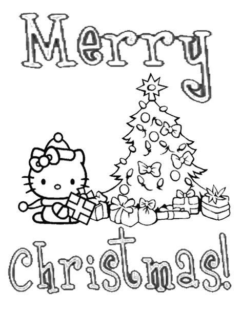 hello kitty christmas tree coloring page hello kitty xmas tree christmas coloring page h m