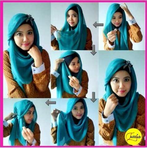foto tutorial hijab paris untuk wajah bulat hijab paris untuk wajah bulat fimuslim indonesia