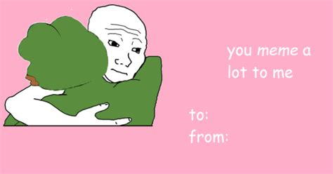 Valentines Day Meme Cards - you meme me alot valentine s day e cards know your meme