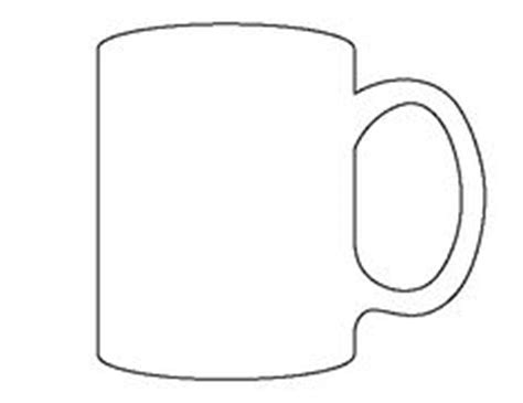 cup template glass pattern use the printable outline for crafts