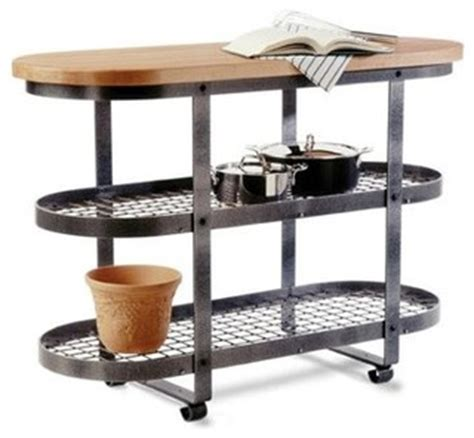 Kitchen Cart With Pot Rack by Gourmet Stand Hammered Steel Industrial Kitchen