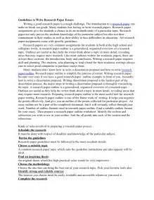 Guidelines To Writing An Essay by Guidelines To Write Research Paper Essays