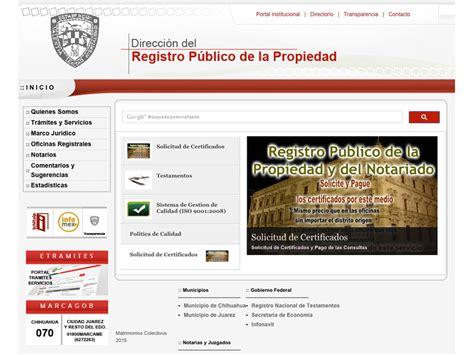 registro publico propiedad cd juarez vlex mxico reestablece rpp tr 225 mites por internet nortedigital