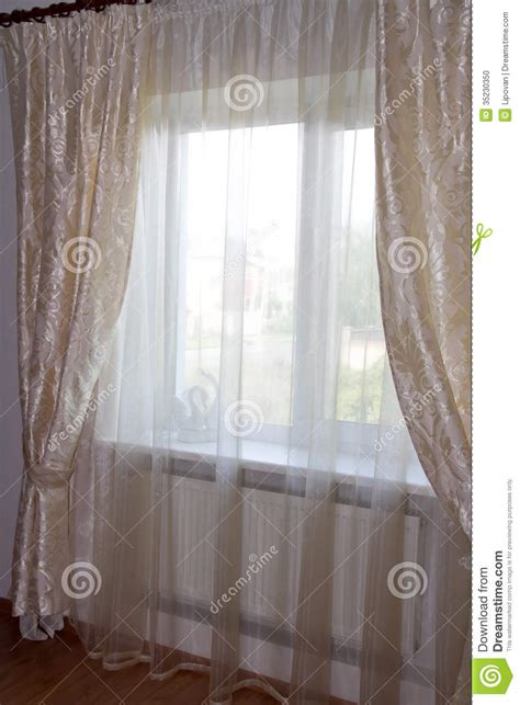 cream bedroom curtains decorating windows cream curtains in the bedroom stock