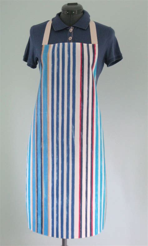 pattern for pvc apron blue striped print adult pvc apron matt oilcloth apron