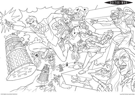 coloring pages of dr who doctor who coloring pages coloring home