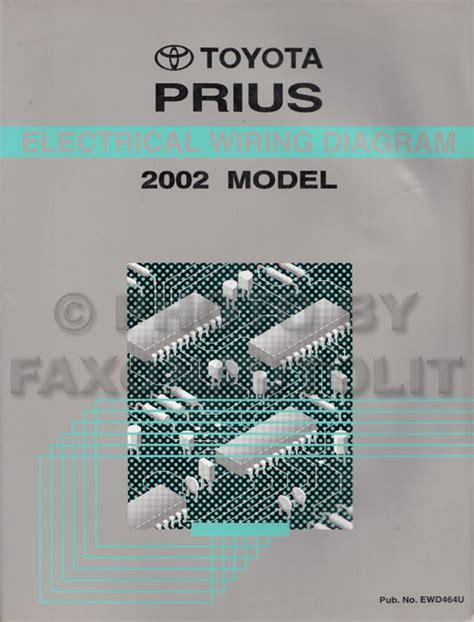 2002 Toyota Prius Owners Manual 2002 Toyota Prius Wiring Diagram Manual Original