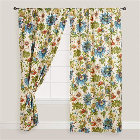 curtains world market multicolor floral fiesta curtain world market