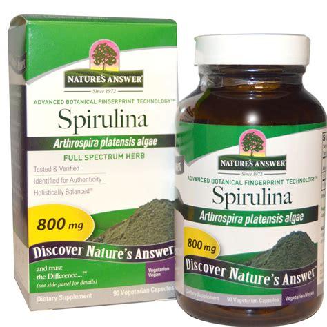 Organic Spirulina 90caps nature s answer spirulina 800 mg 90 vegetarian capsules iherb