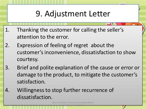 Customer Letter Of Dissatisfaction Basic Principles In Business Correspondence