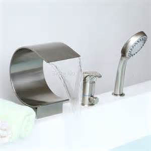free ship modern bathroom widespread 3 pieces waterfall