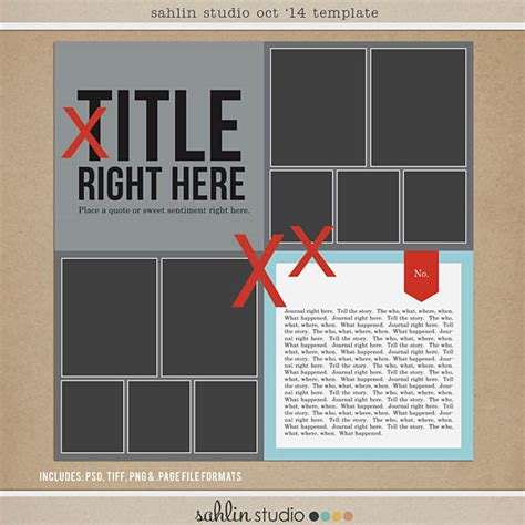 Free Digital Scrapbooking Template October 2014 Sahlin Studio Digital Scrapbooking Designs Digital Scrapbooking Templates