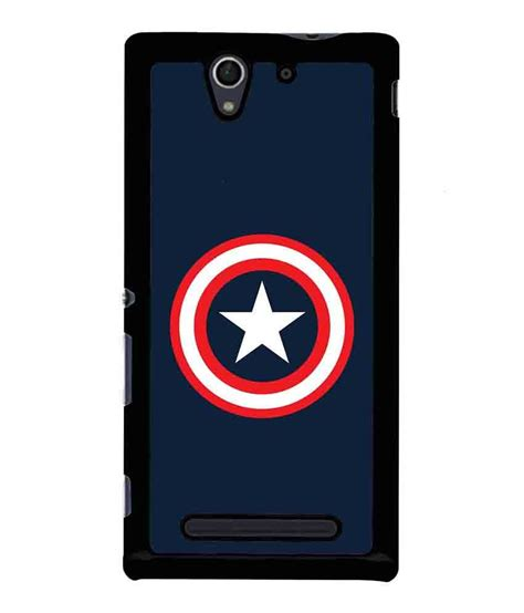 Captain America Sony Xperia C4 Cover caseque captain america minimalitic shield shell back cover for sony xperia c3 buy
