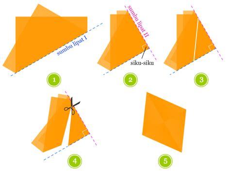 matematika kelas  sd alat peraga  kertas lipat