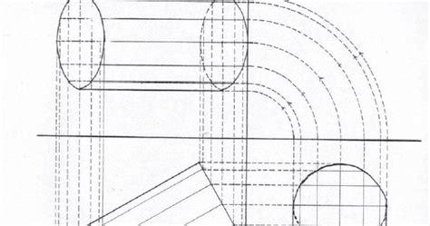 menggambar proyeksi orthogonal tabung belajar serbaneka