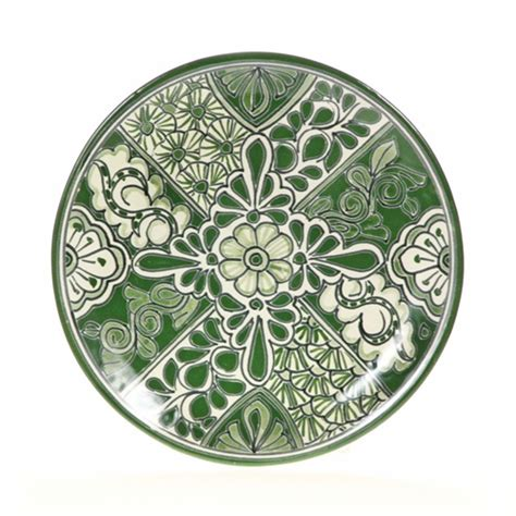 Decorative Platters by Mexican Talavera Green Decorative Plates