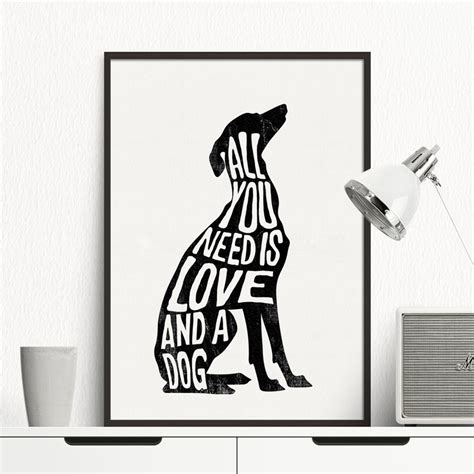 posters home decor italian greyhound greyhound poster minimal wall