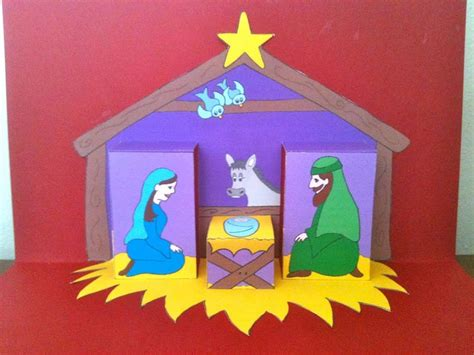 Pop Up Nativity Card Template by 91 Best Images About Su Pop Up On Card