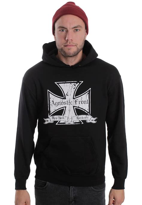 Hoodie Cross agnostic front white iron cross hoodie official new york merchandise shop