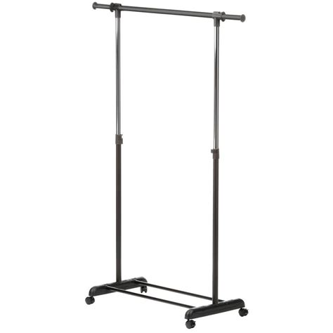 rolling garment rack honey can do expandable steel rolling garment rack in