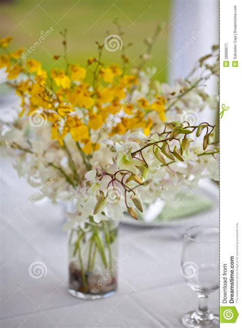 Flower Settings For Weddings by Wedding Decor Table Setting And Flowers Stock Image