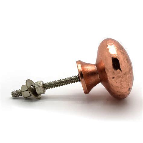 Copper Door Knob by Copper Hammered Cupboard Door Knobs By Pushka Home
