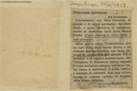 lettere d di grandi uomini la disfatta di caporetto 24 ottobre 1917