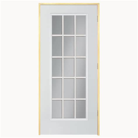 15 Light Exterior Door Shop Reliabilt 15 Lite Prehung Outswing Steel Entry Door Common 32 In X 80 In Actual 31 75