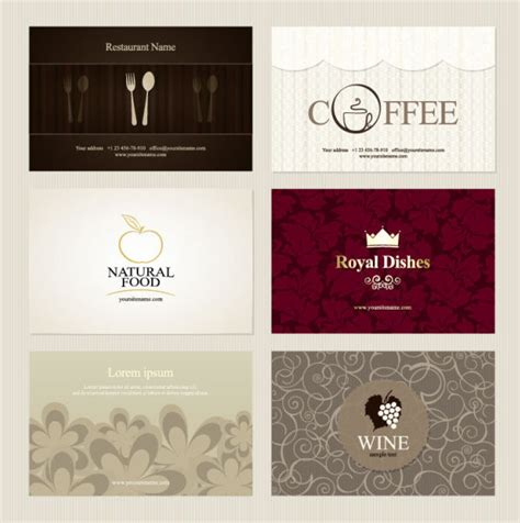Unique Gift Card Presentation - presentation of creative coffee cards design elements vector free vector in