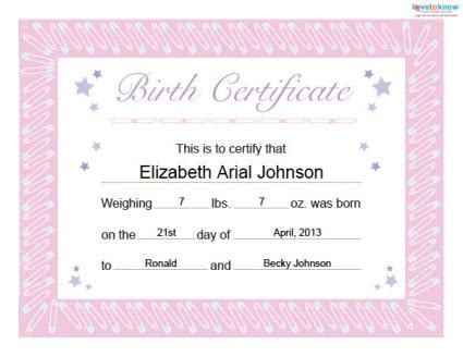 Baby Birth Record Free Baby Book Printables Lovetoknow