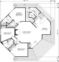 main floor plan image of the octagon house plan the only problem is one missing bathroom door i