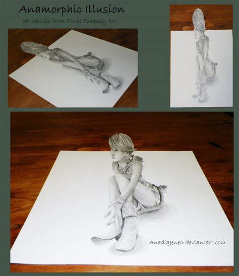 printable anamorphic art anamorphic illusion by anadia chan on deviantart