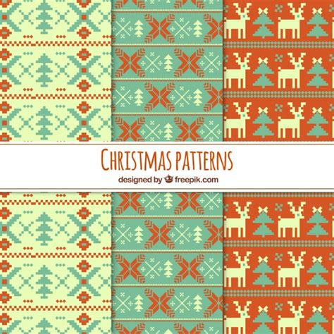 ai pattern cross set of cross stitch christmas patterns vector free download