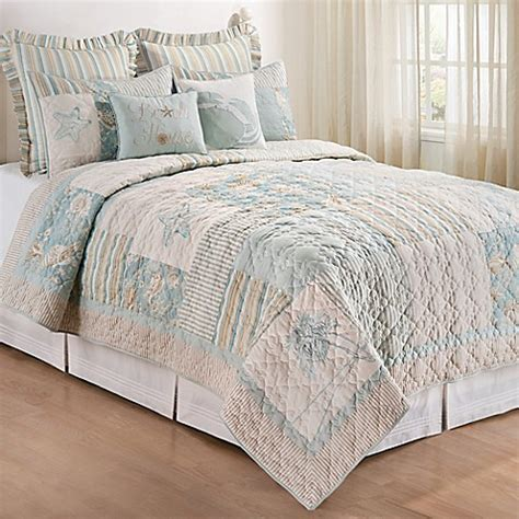 bed bath beyond quilts sandbridge quilt in blue bed bath beyond