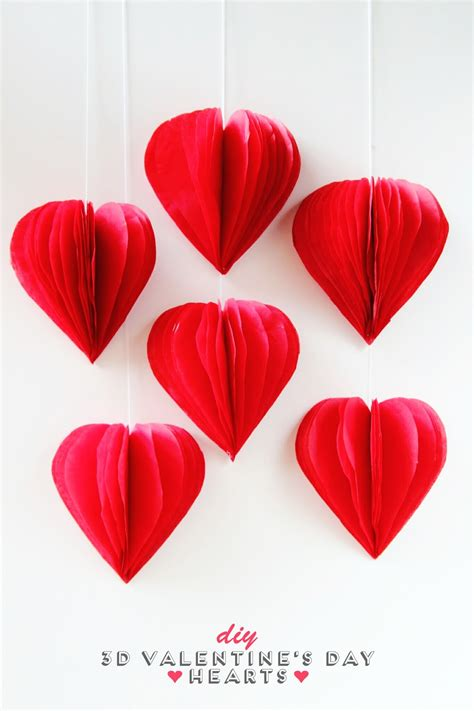home decor printables archives crafty housewife diy 3d valentine s day tissue paper heart decorations