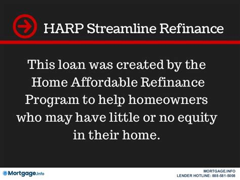 streamline refinance mortgage info