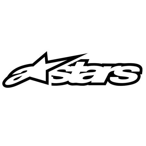 Auto Logo Mit Sternen by Alpinestars Sticker Astars Black 20cm Maciag Offroad