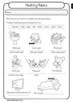 Vs Well Worksheet by Personal Hygiene Worksheets For 1 Health