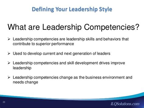 Mba Class Fyi Lombardo by Defining Your Leadership Style In A Performance Based