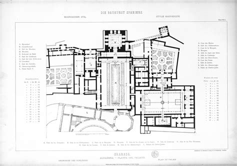 plans elevations sections and details of the alhambra info plan alhambra voyages cartes