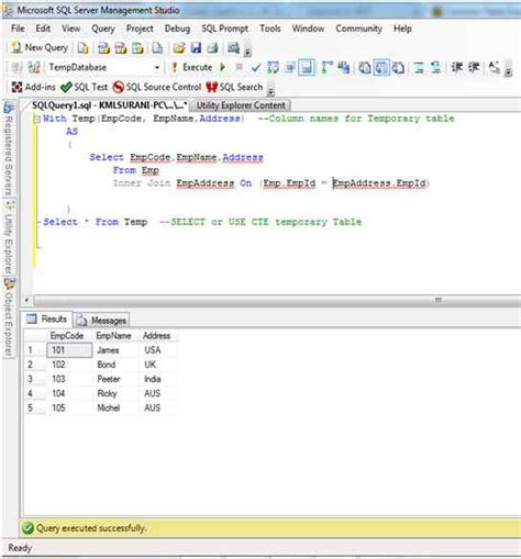 sql common table expression common table expression in sql server