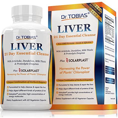 Detox Liver Enzymes by Dr Tobias Liver Support Cleanse Detox Pills