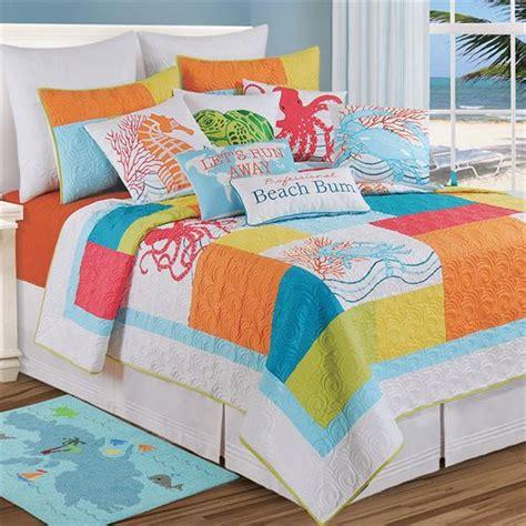 Coastal Bedding Quilts by Tropic Escape Bright Coastal Quilt Bedding