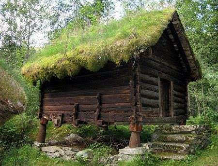 log and sod roof rustic cabin cottage quaint green roof sod roof