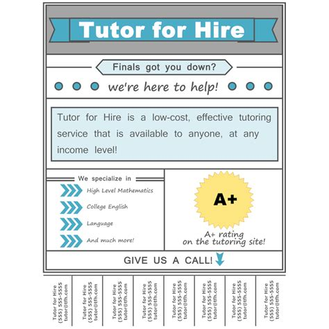tutoring flyer template tutoring flyer