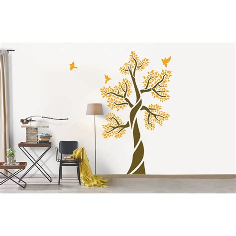 Diy Wall Stickers ornami tree of life asian paints wall fashion stencil
