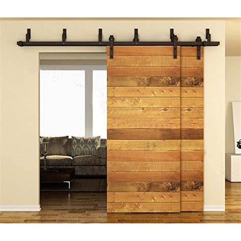 Bypass Barn Door Track Winsoon 10ft Black Bypass Rustic Sliding Roller Barn Wood Door Hardware Closet Track Kit